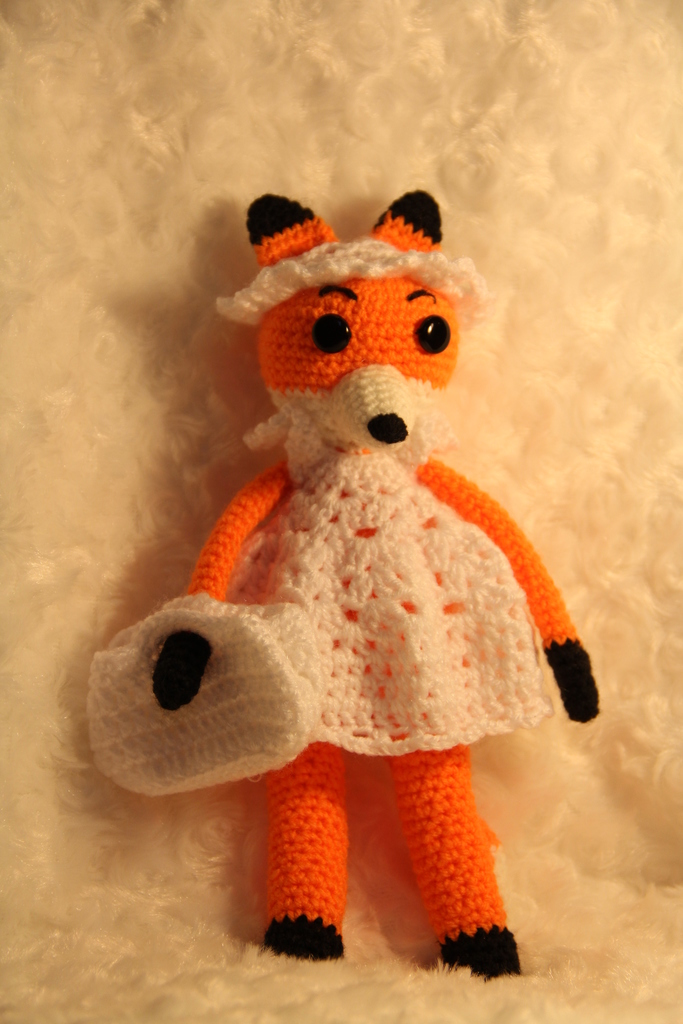 Вязание крючком игрушка лисичка