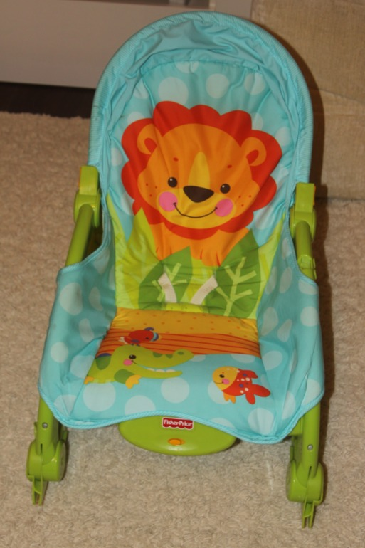 Кресло-качалка Веселый львенок от 0 до 36 мес Fisher Price -б/у в отличном состоянии