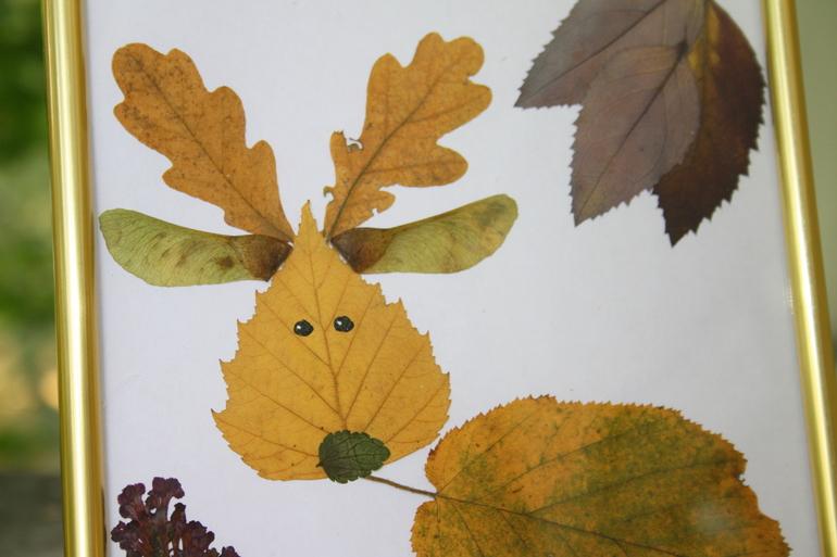 Поделки в дет саду из листьев