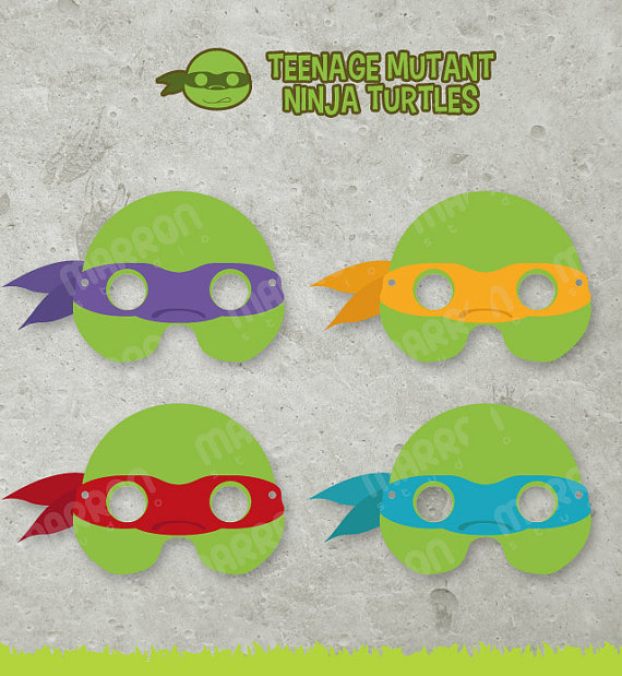 Ninja turtle printable faces