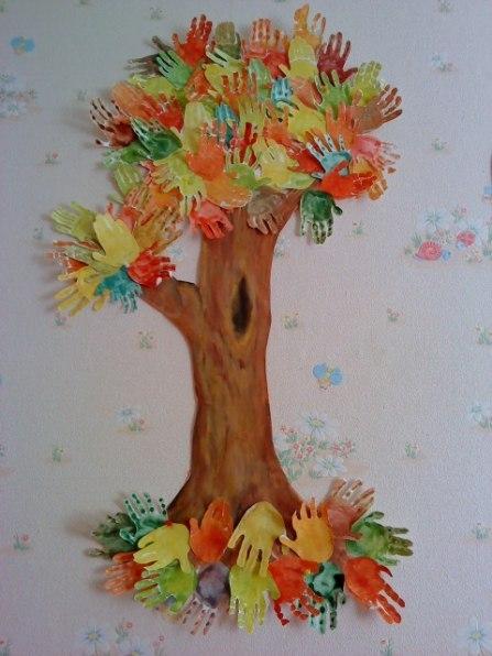 Рисунки поделки на деревьях