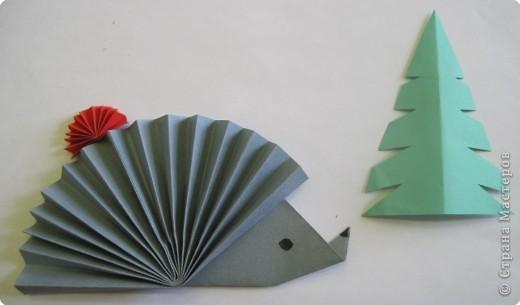 Ежик из бумаги оригами