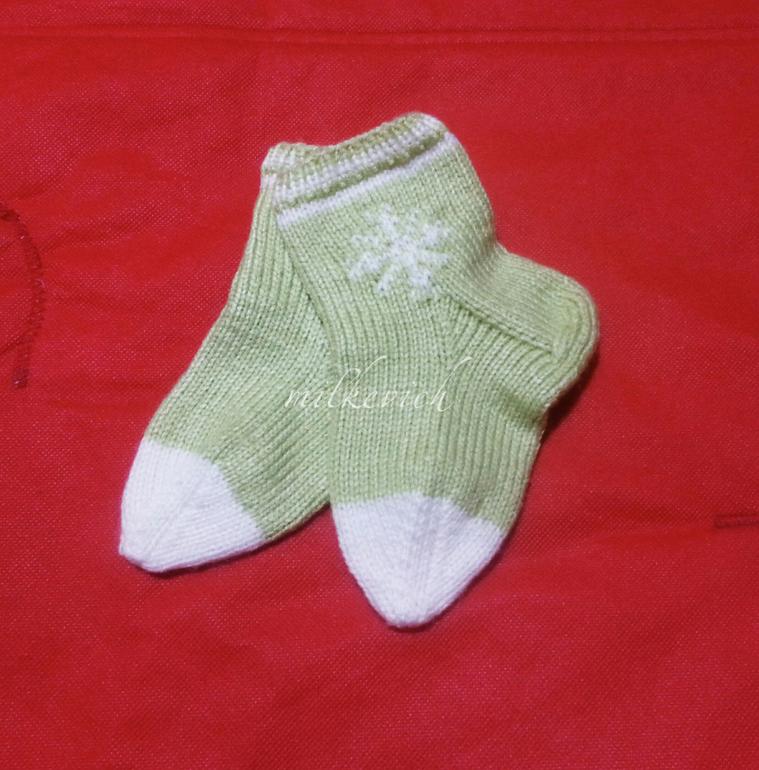 Вязание носков новорожденным 48