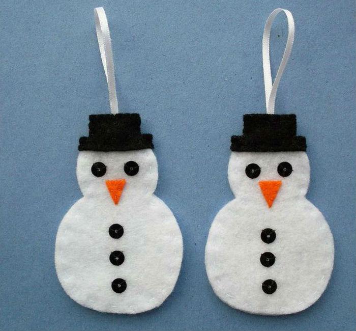 Как сделать 4 снеговиков