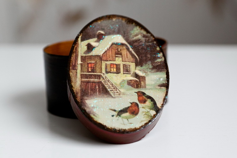 Подарок на Новый год - Шкатулочка для украшений