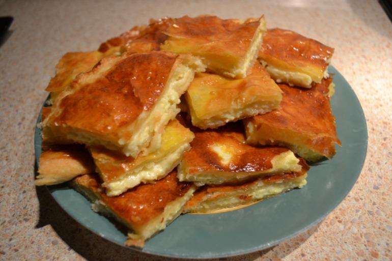 Сырный  пирог.