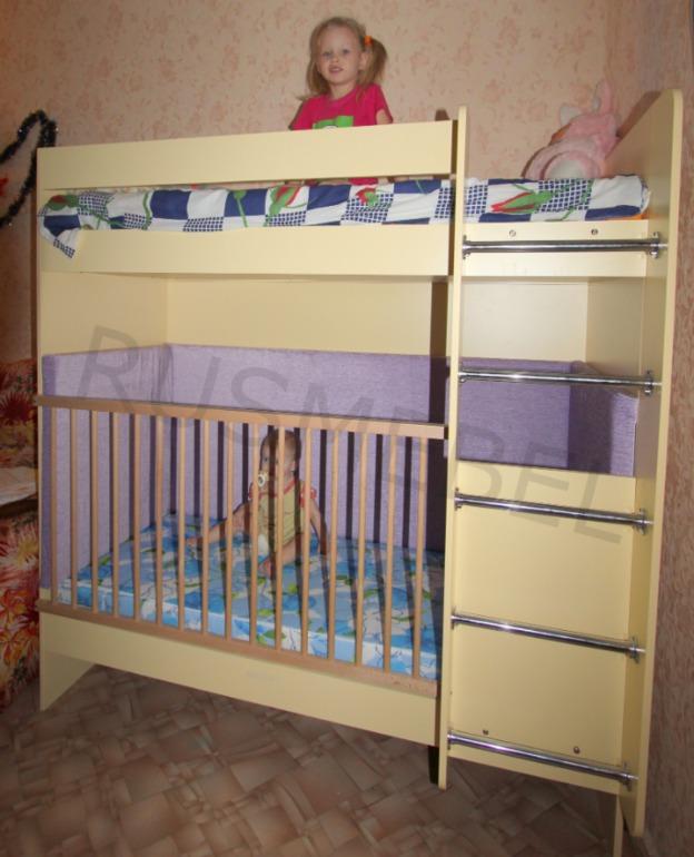 Двухъярусные,  трехъярусные  кровати  для  ваших  деток