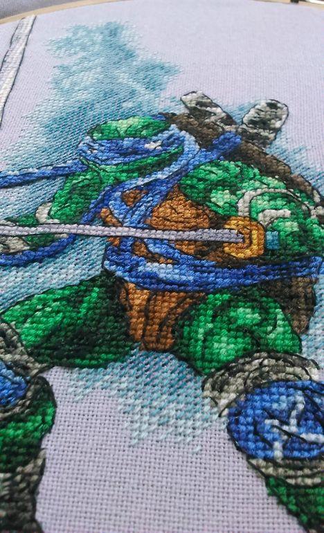 Схема вышивка черепашки ниндзя 57