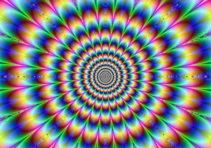 Скачать живые обои разноцветный гипноз