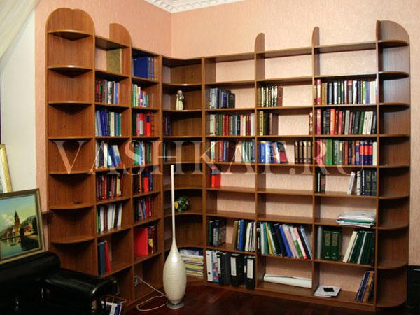 Книжные полки фото угловые
