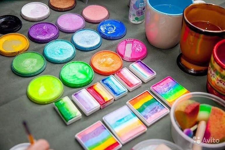 Краски для аквагрима сделать своими руками