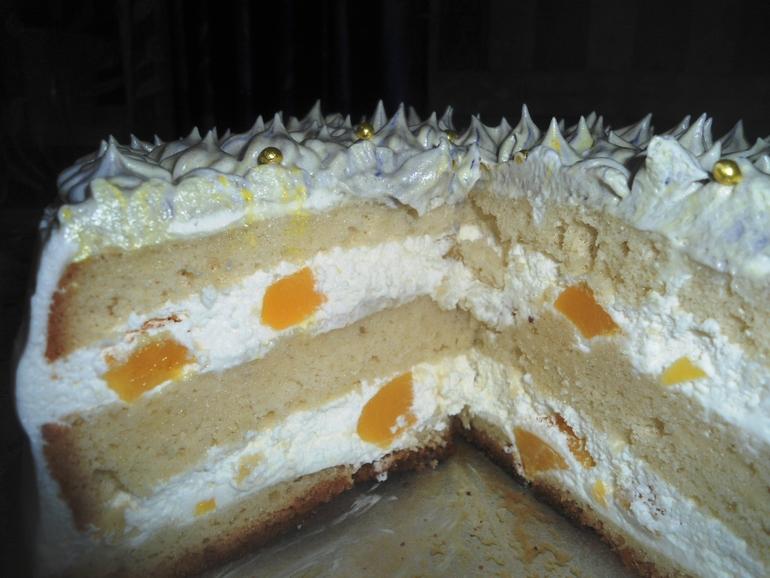 как украсить торт взбитыми сливками из баллончика