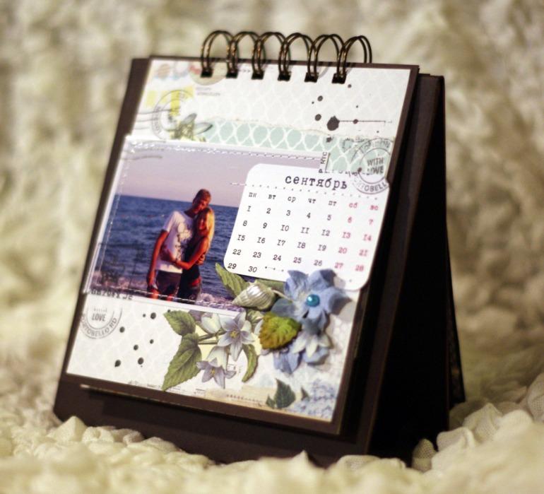 Как сделать календарь перекидной с фотографиями на 2018 год своими руками 10