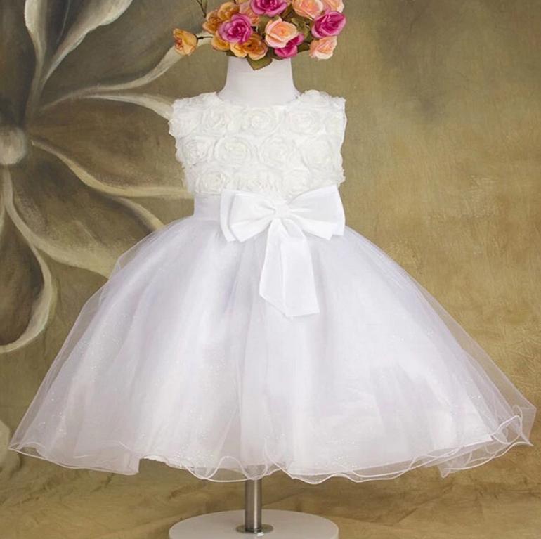 Белые нарядные платья для девочек