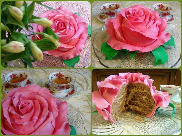 Розы из масла на торт