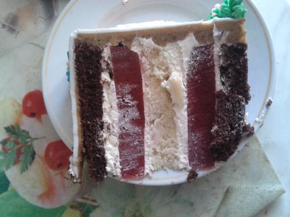 Торт с цветами одноярусный фото 2