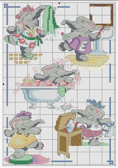 Вышивка крестом схема для туалета 940