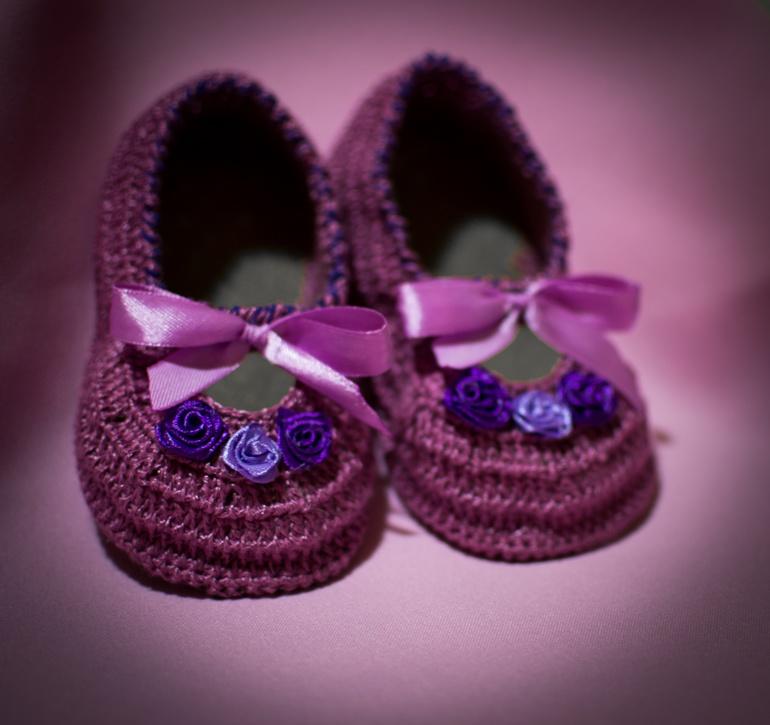 Вязание туфельки с спицами 127