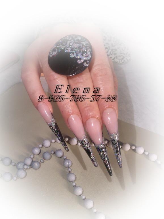 Дизайн ногтей белый френч миндаль