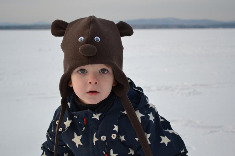 шапочки из флиса детские фото