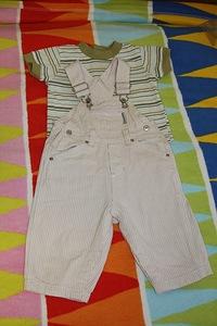 Вязанный комбинезон для мальчика до 3 месяцев