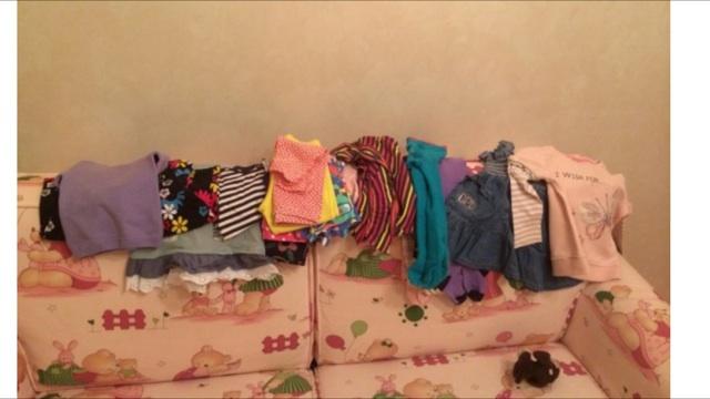 Разнообразные вещички на девочку 74-80 см.