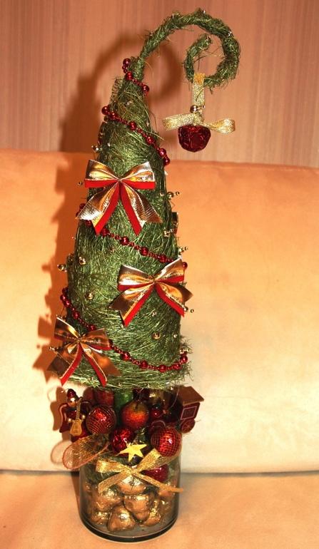 Подарки на НГ ручная работа - конфетная елка