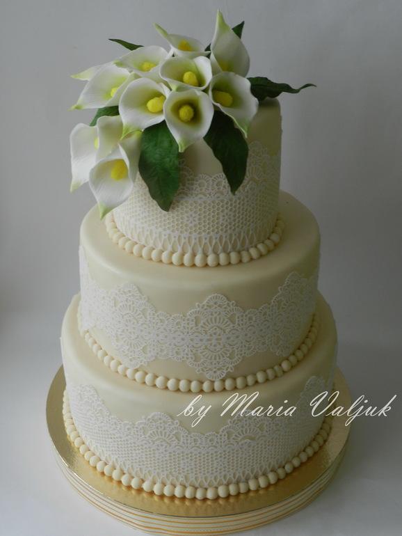 Торт с каллами фото