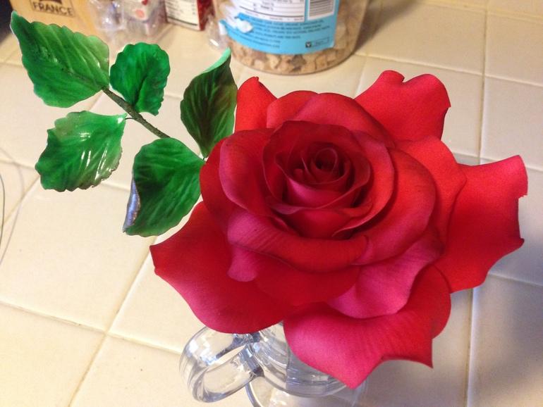 Учусь делать цветы сама. Моя первая роза без курсов