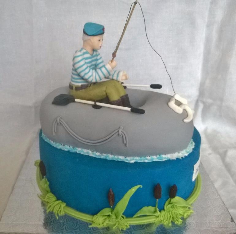 Торт для рыбака фото из мастики своими руками 10