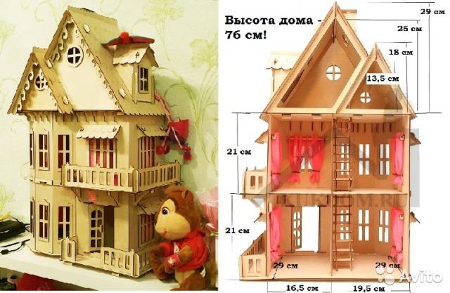 Деревянный кукольный домик сделать