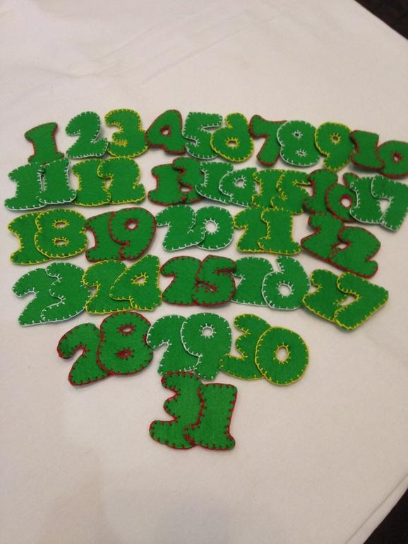 Наша елка из фетра (адвент-календарь)