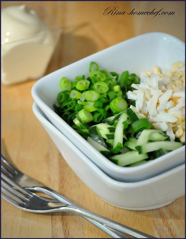 На приготовление салата из зеленого лука
