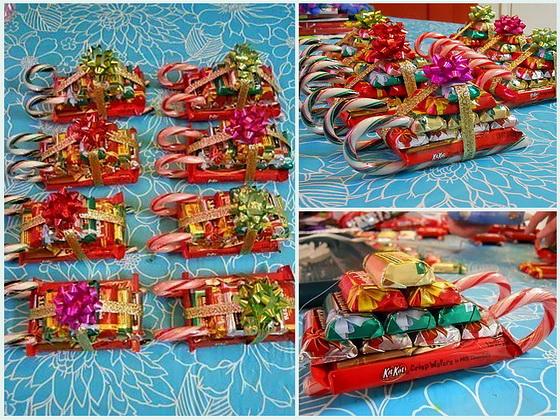 Новогодние подарки своими руками фото из конфет
