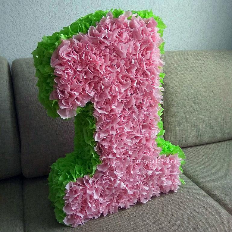 Как сделать цифру из гофрированной бумаги на день рождения