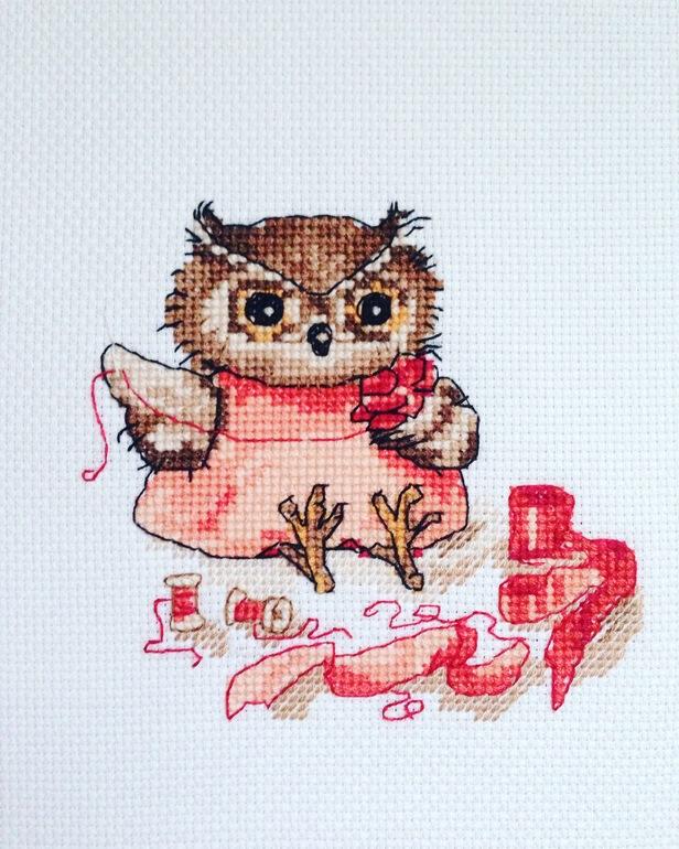 Вышивка крестом совы инги пальцер