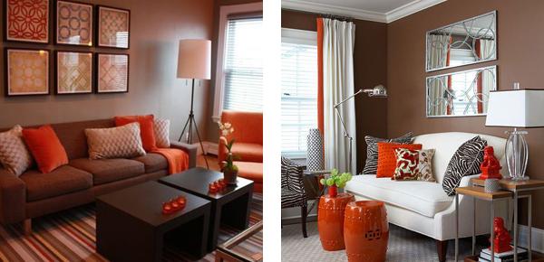 Сочетание цвета в интерьере фото коричневого цвета