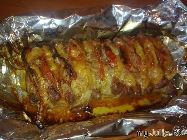 Рецепт свиной шеи в фольге