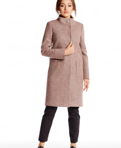 Пальто 20210 (розовый меланж)