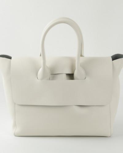 Женская кожаная сумка 1810 Бежевый