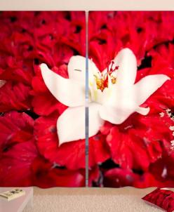 Фотошторы Парящий над водой цветок Габардин