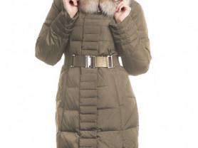 Пальто зимнее, натур. енот, натур.пух, 48 р-р