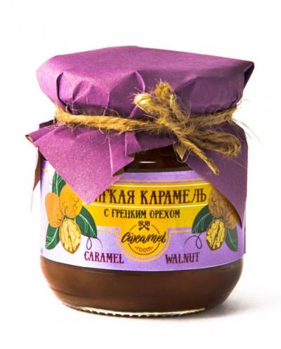 Мягкая карамель с грецким орехом 110гр «WALNUT CARAMEL»