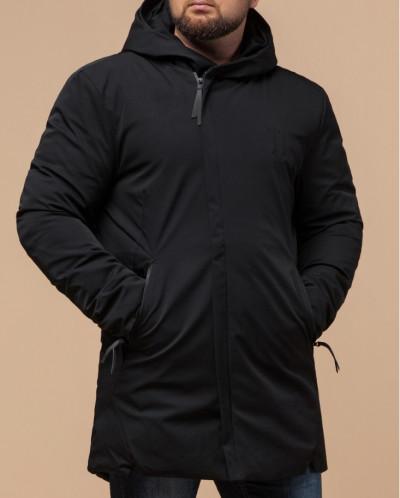 Черная парка мужская на зиму модель 12632