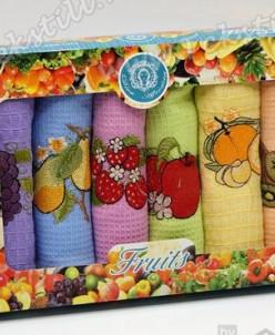 Набор Вафельных Полотенец 30x50 см. 6 шт/уп. Fruits - Niltek