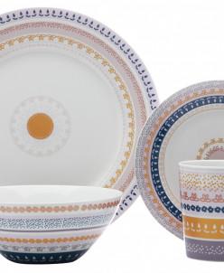Набор обеденный 16 предметов на 4 персоны Базар в подарочной