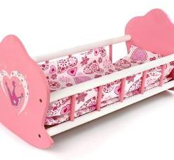 Кроватка-люлька деревянная Корона постелька в наборе