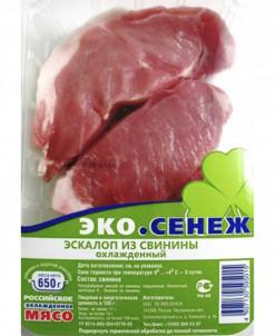Эскалоп из свинины 2,6 кг (4 лотка)