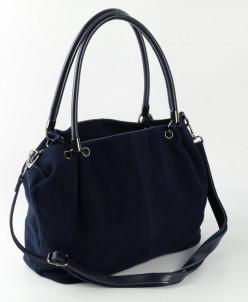 Женская кожаная сумка 10399 Синий