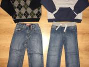 Д/м 110-116 свитера, джинсы, толстовки